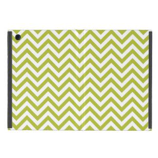 Capa iPad Mini O ziguezague verde e branco listra o teste padrão