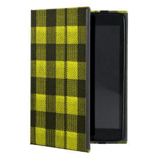 Capa iPad Mini Olhar Checkered de serapilheira do teste padrão do