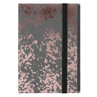 Capa iPad Mini ouro cor-de-rosa do falso elegante e brushstrokes