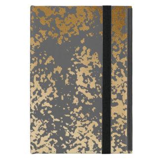 Capa iPad Mini ouro elegante do falso do pintinho e brushstrokes