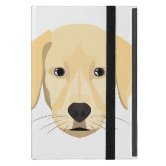 Capa iPad Mini Ouro Retriver do filhote de cachorro da ilustração