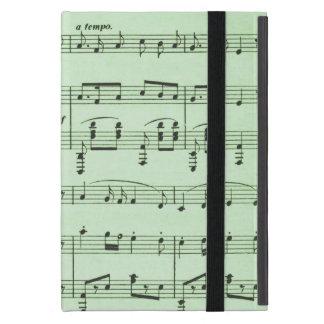 Capa iPad Mini Partitura verde
