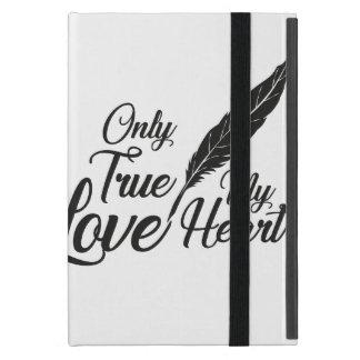 Capa iPad Mini Pena verdadeira do amor da ilustração