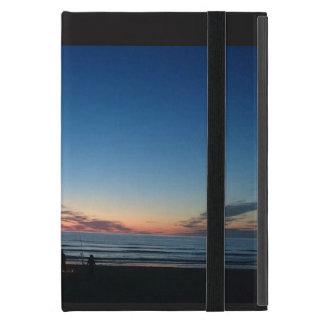 Capa iPad Mini Por do sol do beira-mar. Caso do iPad da pesca da