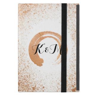 Capa iPad Mini presentes de cobre da coleção do casamento do