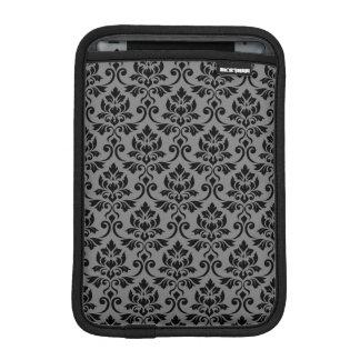 Capa iPad Mini Preto da cor damasco de Feuille em cinzas