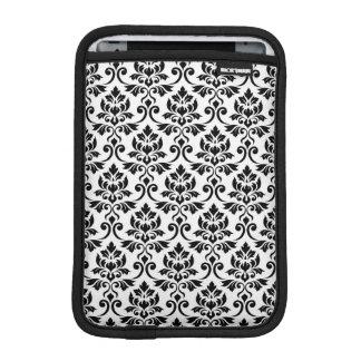 Capa iPad Mini Preto da cor damasco de Feuille no branco