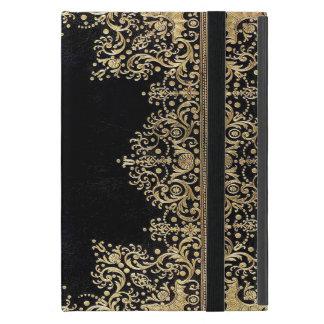 Capa iPad Mini Preto e ouro de Falln filigranas