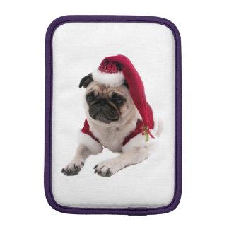 Capa iPad Mini Pug do Natal - cão de Papai Noel - persiga claus