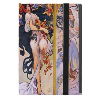 Capa iPad Mini Quatro estações por Alphonse Mucha 1895