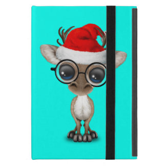 Capa iPad Mini Rena Nerdy do bebê que veste um chapéu do papai