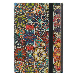 Capa iPad Mini Retalhos do vintage com elementos florais da