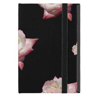 Capa iPad Mini Rosas esmaltados rosa no preto