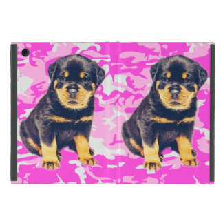 Capa iPad Mini Rottweiler com Camo cor-de-rosa