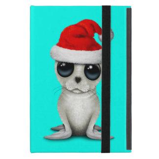 Capa iPad Mini Selo ártico do bebê que veste um chapéu do papai