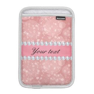 Capa iPad Mini Sparkles cor-de-rosa e diamantes de Bokeh