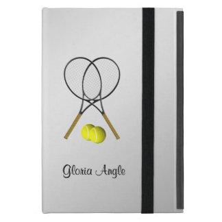 Capa iPad Mini Tema do esporte do tênis dos dobros personalizado
