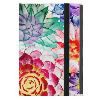 Capa iPad Mini Teste padrão colorido bonito da planta do