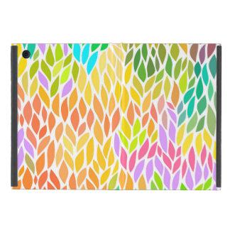 Capa iPad Mini Teste padrão colorido bonito das folhas