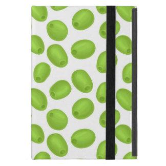 Capa iPad Mini Teste padrão com azeitonas verdes