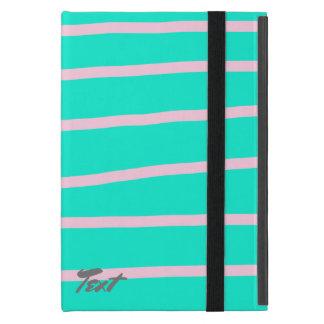 Capa iPad Mini teste padrão cor-de-rosa bonito das listras em um