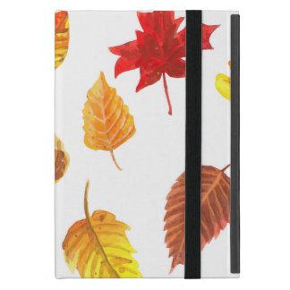 Capa iPad Mini Teste padrão das folhas de outono