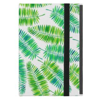 Capa iPad Mini Teste padrão das folhas de palmeira da aguarela