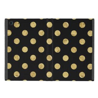 Capa iPad Mini Teste padrão de bolinhas elegante da folha de ouro