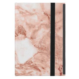 Capa iPad Mini Teste padrão de mármore do falso cor-de-rosa
