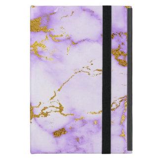 Capa iPad Mini Teste padrão de mármore metálico do falso elegante