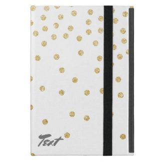 Capa iPad Mini teste padrão de pontos claro elegante dos confetes