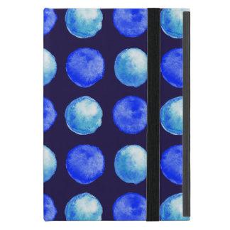 Capa iPad Mini Teste padrão de pontos da aguarela azul do inverno