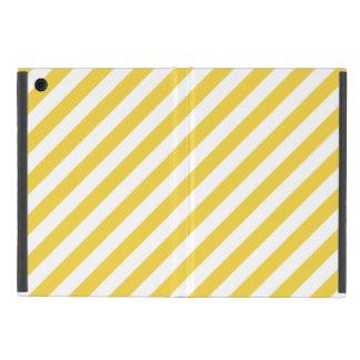 Capa iPad Mini Teste padrão diagonal amarelo e branco das listras