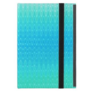 Capa iPad Mini Teste padrão do abstrato do verde azul da cerceta