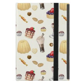 Capa iPad Mini Teste padrão doce com várias sobremesas