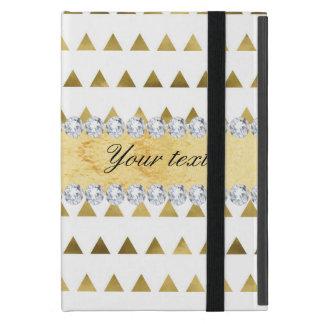 Capa iPad Mini Teste padrão e diamantes dos triângulos da folha