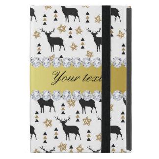 Capa iPad Mini Teste padrão e diamantes modernos dos cervos