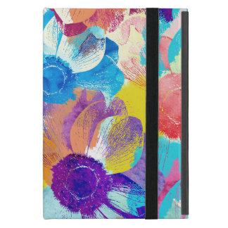 Capa iPad Mini Teste padrão floral colorido com flores da anêmona
