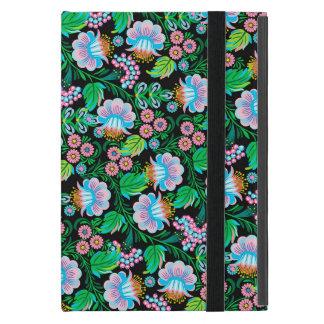Capa iPad Mini Teste padrão floral da arte popular bonito no rosa