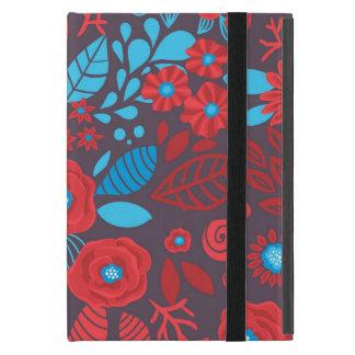Capa iPad Mini Teste padrão floral do Doodle