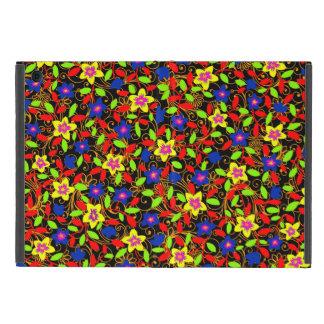 Capa iPad Mini Teste padrão floral lindo preto colorido bonito
