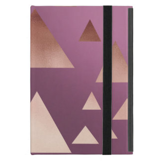 Capa iPad Mini teste padrão geométrico dos triângulos do ouro