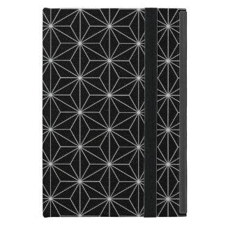 Capa iPad Mini Teste padrão geométrico elegante - prata & Preto