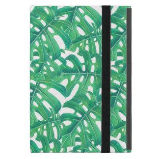 Capa iPad Mini Teste padrão tropical das folhas do monstera verde