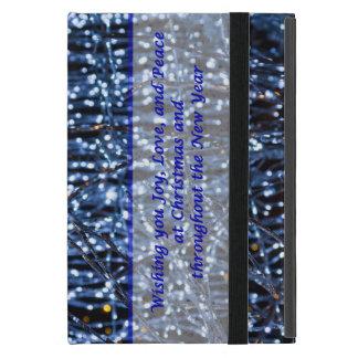 Capa iPad Mini Texto abstrato das luzes azuis