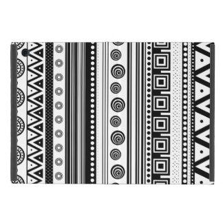 Capa iPad Mini Textura asteca decorativa branca preta bonito