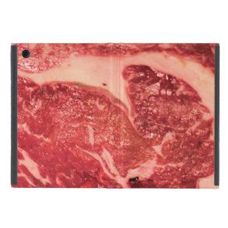 Capa iPad Mini Textura do bife de Ribeye da carne crua