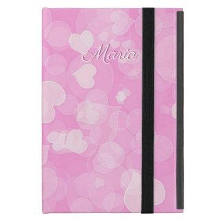 Capa iPad Mini Textura do bokeh do amor dos namorados abstratos.