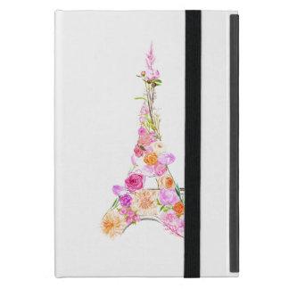 Capa iPad Mini Torre Eiffel floral