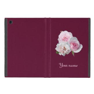 Capa iPad Mini Três rosas cor-de-rosa. Adicione seu texto